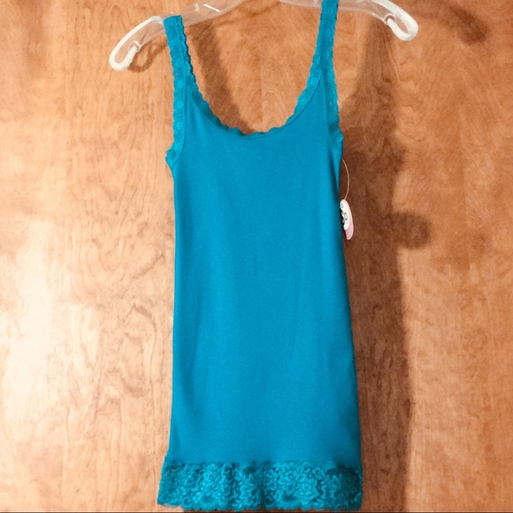 SO Tops - SO Ribbed Tank Top With Lace Trim NEW!